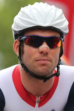 Mark Cavendish of Great Britain looks on ahead of the Men's Road Race Road Cycling on day 1 of the London 2012 Olympic Games on July 28, 2012.  (Source: Bryn Lennon/Getty Images Europe)