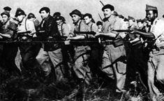 Combatientes de la Brigada Lincoln, en el frente de Aragón.