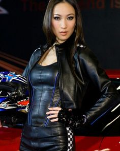 """""""Get on your hands & knees at my feet Mark Shavick! Leather And Lace, Leather Jacket, Leather Gloves, Motard Sexy, Spy Girl, Most Beautiful Hollywood Actress, Sexy Latex, Leather Fashion, Leather Outfits"""