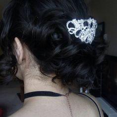 Bun curls Bun Curls, Bun With Curls, Prom Hairstyles, Tattoos, Hair Styles, Earrings, Fashion, Hair Plait Styles, Ear Rings