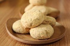+콩고물단호박찹쌀쿠키 / 노버터,노에그,글루텐프리 : 네이버 블로그 Bread, Cookies, Desserts, Food, Crack Crackers, Tailgate Desserts, Biscuits, Meal, Brot