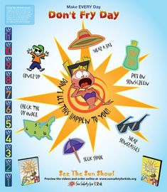 Dont Fry Day by sunsafetyforkids.org: A great resource for sun protection guidelines.  #Sun_Protection #Kids #sunsafetyforkids_org