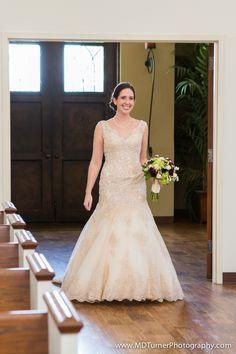 Embellished lace v-neck dress - Houston wedding photography - MD Turner Photography