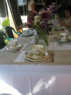Vintage High Tea Vintage High Tea, Event Company, Tea Time, Table Settings, Events, Place Settings, Tablescapes
