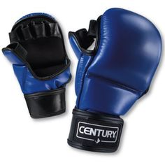 The Century Silver MMA Training Gloves are ideal for training and sparring. They are made of heavy-duty polyurethane and feature high impact foam padding on a rounded striking surface. These gloves also feature an open palm design and hook-and-loop closures for a secure fit.About Century LLCCentury's core belief is that martial arts can profoundly impact people's lives