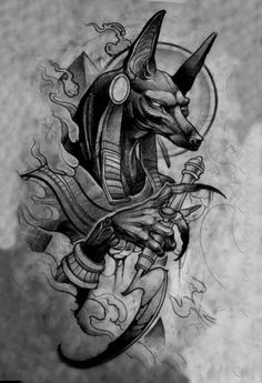 Anubis this legendary animal was worshiped and then they were afraid again . - Anubis this legendary animal was venerated then you were afraid again …. Anubis Tattoo, Horus Tattoo, Body Art Tattoos, Sleeve Tattoos, Cool Tattoos, Men Tattoos, Small Tattoos, Tattoo Sketches, Tattoo Drawings