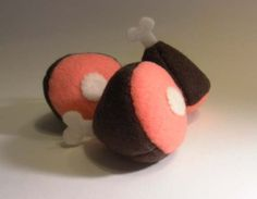 Hand-Made Ham End Catnip Filled Cat Toy by KawaiiCatToys on Etsy https://www.etsy.com/listing/112628196/hand-made-ham-end-catnip-filled-cat-toy