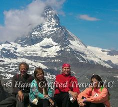 Travel Picture: Day 103. A Hand Crafted group out for a hike in the Swiss Alps, Zermatt, Switzerland.