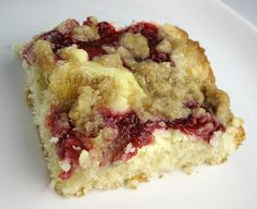 Raspberry-cream cheese crumb cake