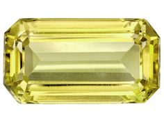 Untreated Mexican Intense Yellow Green Apatite 24.15ct 22.65x12.45mm Emerald Cut W/Gemworld Report
