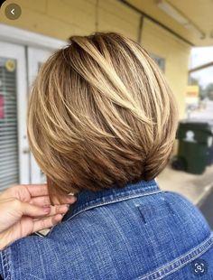 Bob Haircut For Fine Hair, Blonde Bob Haircut, Bob Hairstyles For Fine Hair, Layered Bob Hairstyles, Long Bob Haircuts, Boho Hairstyles, Medium Hair Styles, Short Hair Styles, Blonde Balayage Bob