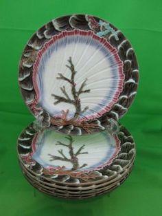 Wedgwood Majolica set of 6 Wave Plates