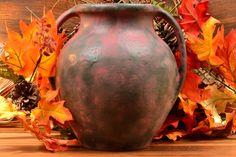 Burley Winter Pottery Gray over Purple Vellum 2 Handle Vessel 1925 Zanesville Ohio, Winter Art, Pottery Art, Handle, Gray, Purple, Grey, Viola, Door Knob