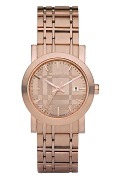 I'm not a huge Burberry fan but this rose gold watch is bananas. *swoon*