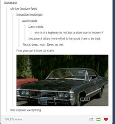 """""""You can't drive up stairs."""" 