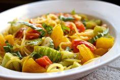 Heirloom Tomato Spaghetti (via marriahlavigne.com)