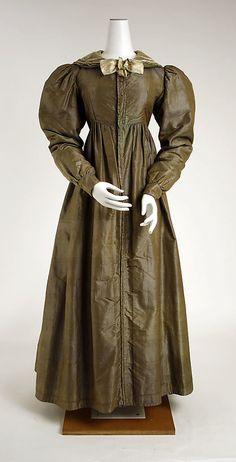 c. 1825 dress, French (probably). Silk. The Met, C.I.50.8.15