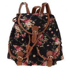 Casual Cute Fashion Girl Lady Women's Canvas Travel Satchel Shoulder Bag Backpack School Rucksack