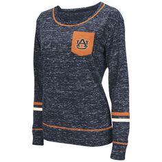 Auburn Tigers Colosseum Women s Homies Heathered Long Sleeve Pocket T-Shirt  - Navy Basketball Store 29673bdf0
