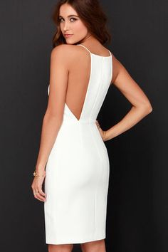 It's hard to keep still with all the excitement surrounding the Keepsake Restless Heart Ivory Midi Dress! Princess seams flow through the fitted waistline with slit. Evening Dresses, Summer Dresses, Short Dresses, Formal Dresses, Party Dresses, White Outfits, Girly Outfits, Simple Outfits, Dress To Impress