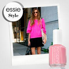 """Dale vida a tu #essieStyle con una pieza rosa y el tono """"petal pink""""."""