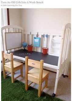 cute idea to transform a crib