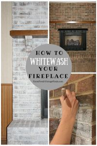 How to Whitewash Brick with chalk type paint - Farm Fresh Vintage ...
