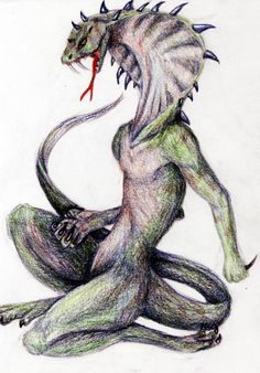 Srayuda- jeparan folklore: a serpent with the face of a human. It was reported over rivers. Its presence was said to be an omen of a river flood.