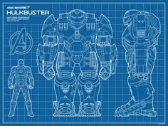 Black And White Iron Man Armor Blueprints