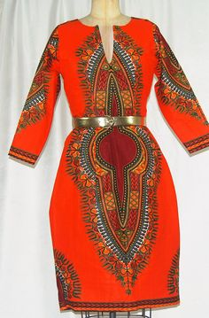 Elegant African Print Dashiki Dress Women's by ChristalinePrints ~African fashion, Ankara, kitenge, African women dresses, African prints, Braids, Nigerian wedding, Ghanaian fashion, African wedding ~DKK