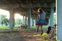 The red swing project |Tillery Bridge Learn more @ redswingproject.org.