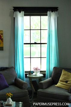DIY No-Sew Ombre Curtains. I want to do this for my bedroom!