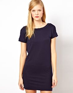 Sessùn V Back Jersey Mini Dress with Button Detail - Asos