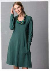 """Solid-colored and print """"Gunnel"""" dress in eco-cotton/spandex"""
