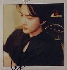 Sehun - Some By Mi Polaroid | EXO Sehun, Exo, Hoop Earrings, Polaroids, Twitter, Earrings