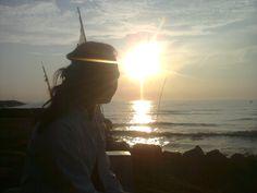 sunrise at glayem beach indramayu, sunday morning :)