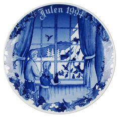 Porsgrund 1994 Christmas Plate NIB Feeding the Birds NEW IN BOX #Porsgrund Christmas Plates, Box, Snare Drum, Boxes, Christmas Dishes