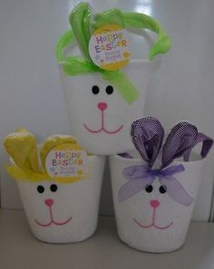 #Happy #easter #white bunny bucket  egg hunt #easter decoration  ,  View more on the LINK: http://www.zeppy.io/product/gb/2/311303219695/