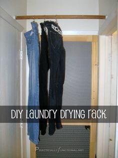 DIY Laundry Drying Rack --- Practically Functional