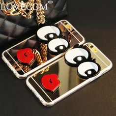 LOVECOM Big Eye Sexy Red Lips Phone Case For iPhone 5 5S SE 6 6S Plus Soft TPU & Mirror Phone Bags & Cases YC5079