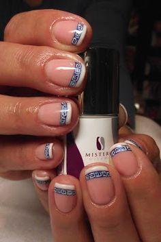 Greek style on Iwona's nails :)