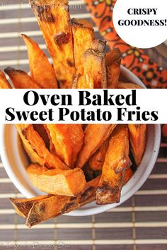 It's all in the technique with these Whole30 french fries! Paleo Recipes, Real Food Recipes, French Fries, Oven Baked, Sweet Potato, Diet, Baking, Vegetables, Whole30