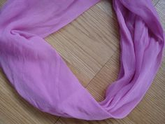 1960s Orchid Silk Chiffon Infinity Vera Scarf by bycinbyhand, $12.00