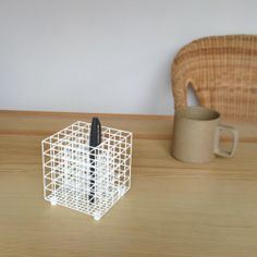 White Cube Pen Stand for the Meticulous