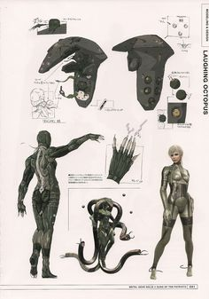 Beauty Beast Laughing Octopus from Metal Gear Solid 4 by Yoji Shinkawa