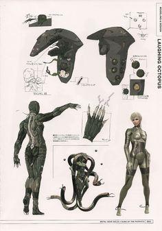 Beauty Beast Laughing Octopus from Metal Gear Solid 4 by Yoji Shinkawa
