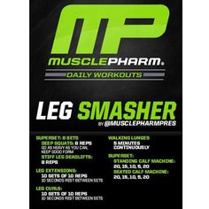 """2,475 Likes, 108 Comments - MusclePharm (@musclepharm) on Instagram: """"#MP Workout of the Day! Leg Smasher by @MusclePharmPres  Powered by #Combat!  Tag someone that…"""""""
