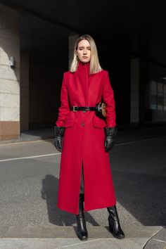 049a426dbd4cd Red Coat Red Wool Coat Red Coat Women Spring Women Coat Long Red Coat  Ladies Coats Red Outwear Wrap Coat