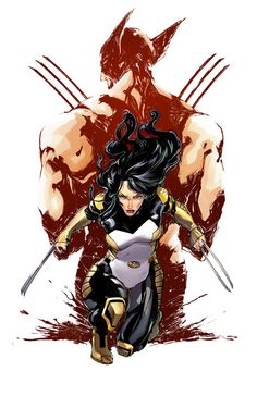 xombiedirge:  Death of Wolverine: The Logan Legacy #1-3 Cover... #comics #art