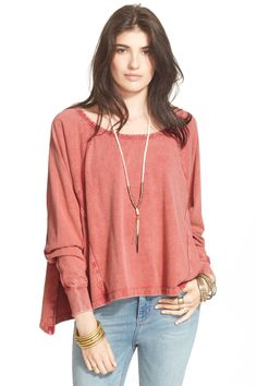 Free People cupcake sunrise pullover  (Canyon Rose ) #6815